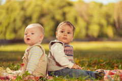 Two babies Stock Photography