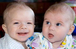 Two babies Royalty Free Stock Image