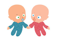 Two baby Royalty Free Stock Image