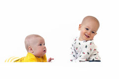 Two baby in beautiful costume Royalty Free Stock Photos