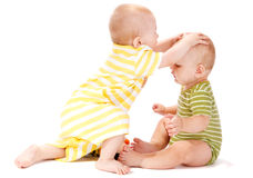 Two baby boys Royalty Free Stock Images
