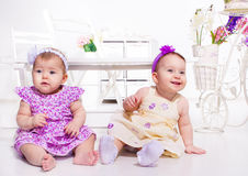 Two baby girls Royalty Free Stock Photo