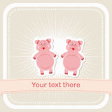 Two baby pigs on background Stock Image