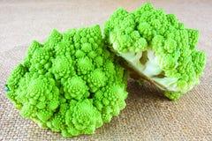 Two baby romanesco cauliflowers Stock Photography