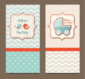 Two baby showers, illustration Stock Photo