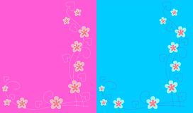 Two backgrounds Royalty Free Stock Photos