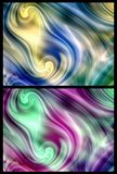 Two backgrounds. Set of two backgrounds with abstract patterns and colours Stock Images