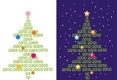 Two backgrounds with abstract christmas-trees. Vector illustration Royalty Free Stock Photos