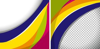 Two backgrounds with colorful wavy lines. Illustration Royalty Free Stock Images