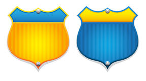Two  badges Royalty Free Stock Photography