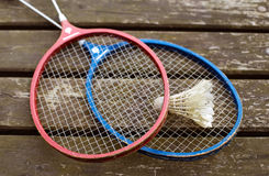Two badminton rackets Royalty Free Stock Image