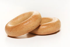 Two bagels. On white background Royalty Free Stock Photos