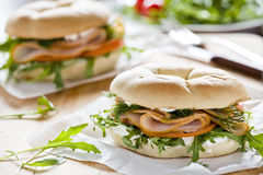 Two Bagels Stock Photography