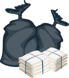 Two Bags. Illustration of two bags on white background vector illustration