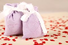 Two bags with hearts Stock Image