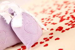 Two bags with hearts Royalty Free Stock Photos