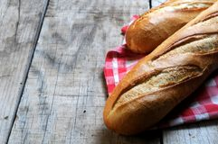 Two baguette french bread from bakery Royalty Free Stock Images