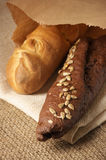 Two baguettes Royalty Free Stock Images