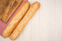 Two baguettes Royalty Free Stock Photo