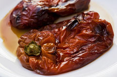 Two baked peppers Royalty Free Stock Image