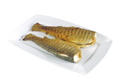 Two baked trout Stock Images