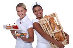 Two bakery workers Stock Image