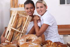 Two bakery workers Stock Photography