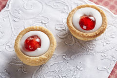 Two Bakewell Pastries Stock Images