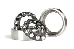 Two ball bearings Royalty Free Stock Photos