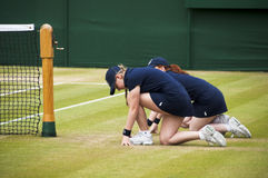 Two Ball Girls At Wimbledon Royalty Free Stock Images
