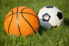 Two ball in the grass Royalty Free Stock Photo