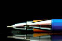 Two ball point pens Royalty Free Stock Photo