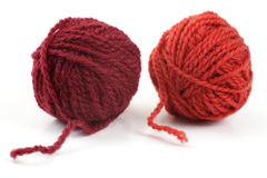 Two ball of wool Royalty Free Stock Images