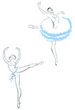 Two ballerinas Stock Photos