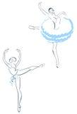 Two ballerinas Stock Photos