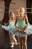 Two Ballerinas Standing Royalty Free Stock Images