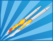 Two ballistic rockets Royalty Free Stock Photography
