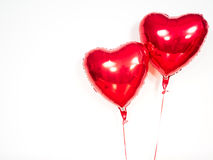 Two balloon hearts Stock Images