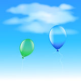 Two balloons Stock Photography