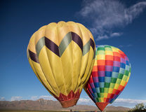 Two balloons ready to fly Royalty Free Stock Image