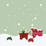 Two balls and gifts for winter Stock Photo