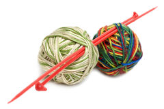 Two balls for knitting Royalty Free Stock Image