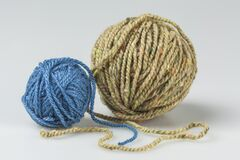 Free Two Balls Of Yarn Royalty Free Stock Photos - 183940888