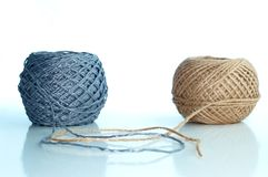 Two balls of twine Royalty Free Stock Image