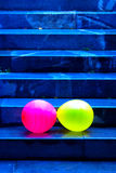 Two Baloons Falling Down The Stairs Royalty Free Stock Image