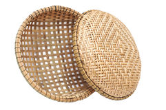 Two bamboo basket Royalty Free Stock Images