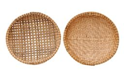 Two bamboo baskets Stock Image