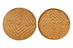 Two Bamboo Baskets Stock Images