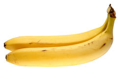 Two bananas. It is isolated on a white background Royalty Free Stock Photo