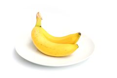 Two bananas Royalty Free Stock Photo